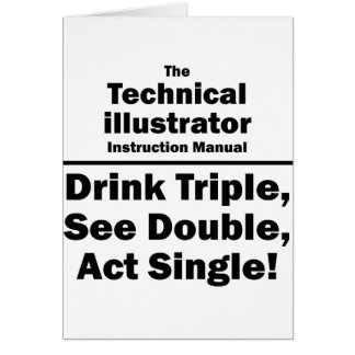 technical illustrator note card