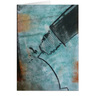 Technical Pen, by Brad Hines, pastel Notecard Note Card