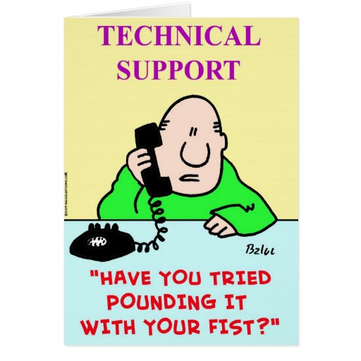 technical support pounding fist card