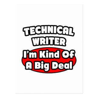 Technical Writer ... Big Deal Postcard