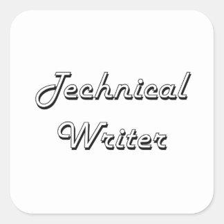 Technical Writer Classic Job Design Square Sticker