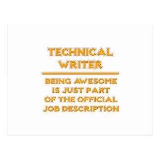 Technical Writer .. Job Description Postcard