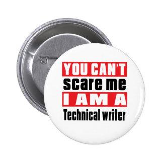 Technical writer scare designs 6 cm round badge
