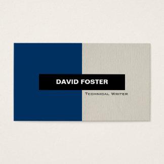 Technical Writer - Simple Elegant Stylish Business Card