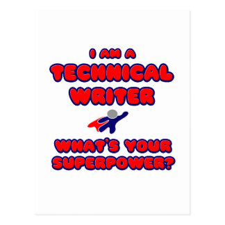 Technical Writer .. What's Your Superpower? Postcard