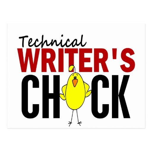 Technical Writer's Chick Post Cards
