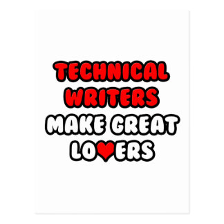Technical Writers Make Great Lovers Postcard