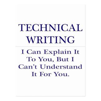 Technical Writing .. Explain Not Understand Postcard