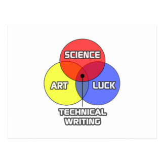 Technical Writing .. Science Art Luck Postcard