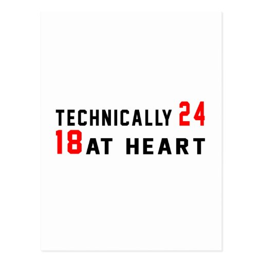 Technically 60, 24 at heart postcards