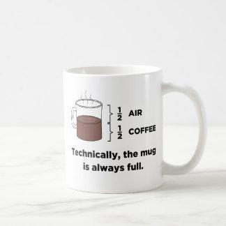 Technically, The Mug Is Always Full Coffee Mug