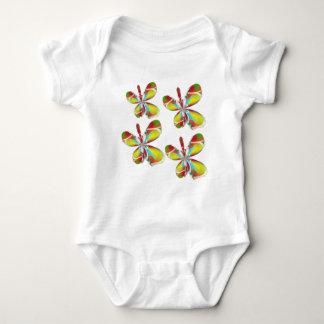 Technicolor butterfly baby bodysuit