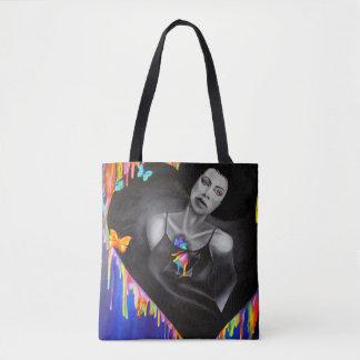 Technicolor Heart Tote Bag