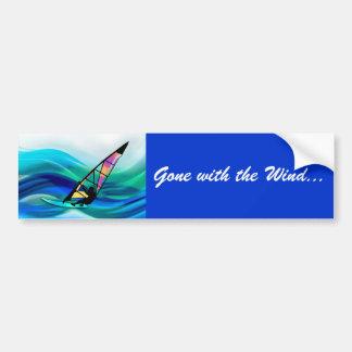 Technicolor Windsurfer Bumper Sticker