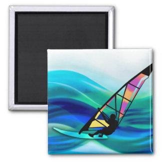 Technicolor Windsurfer Fridge Magnets