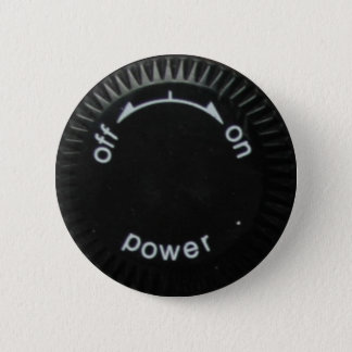 technics 1200 power 6 cm round badge