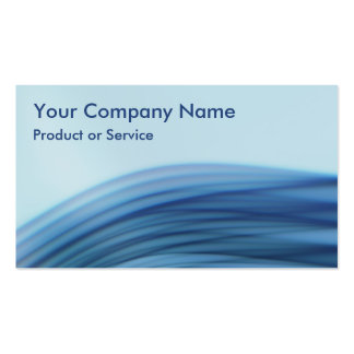 Techno blue pack of standard business cards