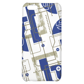 Techno Blue on White i Case For iPhone 5C