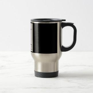 Techno coffee travel mug