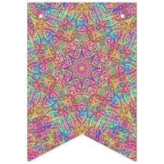 Techno Colors 2 Vintage Kaleidoscope  Party Flags