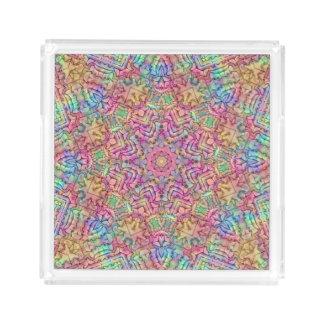 Techno Colors  Acrylic Trays, 2 shapes 4 sizes Acrylic Tray