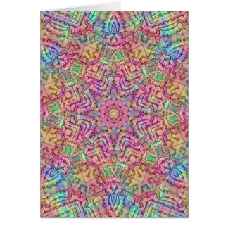Techno Colors Kaleidoscope Card