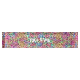 Techno Colors Kaleidoscope  Pattern Desk Nameplate
