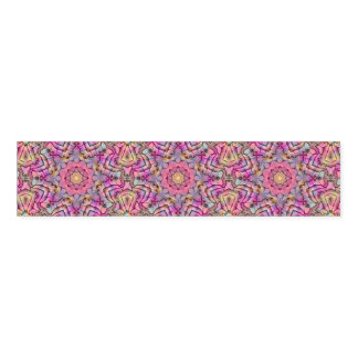 Techno Colors Kaleidoscope  Pattern Napkin Bands