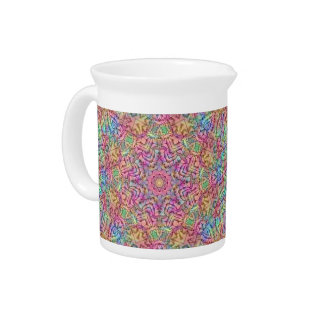 Techno Colors Kaleidoscope  Porcelain Pitchers