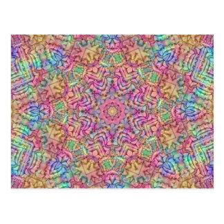 Techno Colors Kaleidoscope Postcards