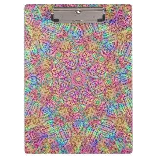Techno Colors Pattern Clipboard