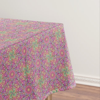 Techno Colors Pattern Cotton Tablecloth