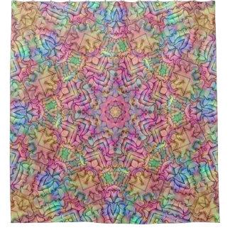 Techno Colors Pattern  Custom Shower Curtain