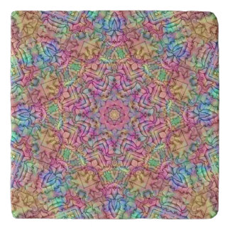 Techno Colors Pattern  Custom Stone Trivets