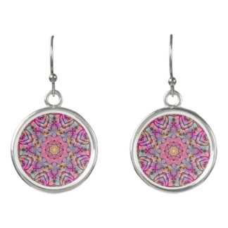 Techno Colors Pattern Drop Earrings
