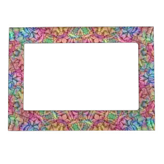 Techno Colors Pattern  Magnetic Picture Frames