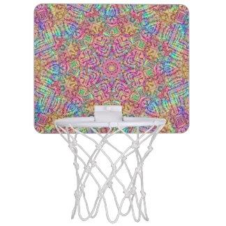 Techno Colors Pattern Mini Basketball Goal Mini Basketball Hoop