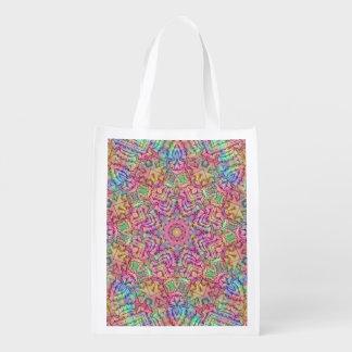 Techno Colors Pattern Reusable Bag