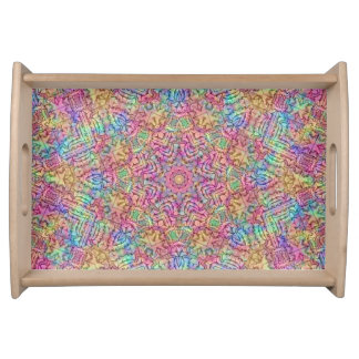 Techno Colors Pattern Serving Trays, 2 sizes Serving Tray