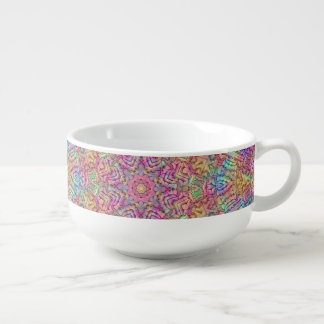 Techno Colors Pattern Soup Mug