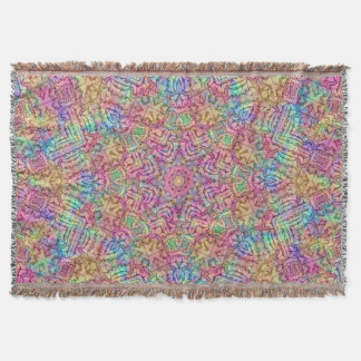 Techno Colors Pattern  Throw Blanket
