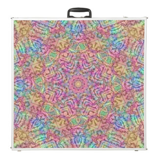 "Techno Colors Vintage Kaleidoscope 96""  Pong Table"