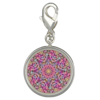 Techno Colors Vintage Kaleidoscope   Charm