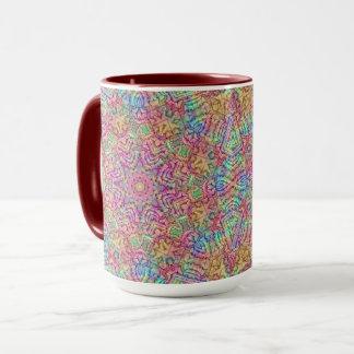Techno Colors Vintage Kaleidoscope  Combo Mug