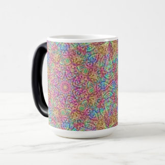 Techno Colors Vintage Kaleidoscope Morphing Mug