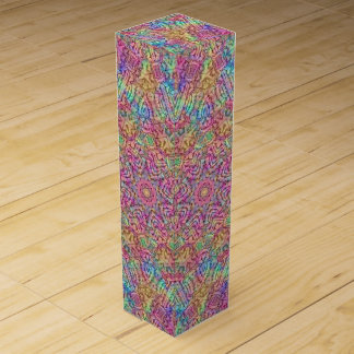 Techno Colors Vintage Kaleidoscope Wine Gift Box