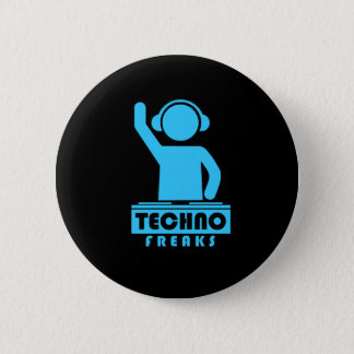 Techno Freaks 6 Cm Round Badge