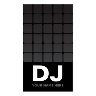 Techno Gradient  DJ Business Cards