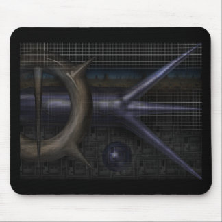 techno-grid mouse pad