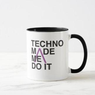 Techno Made me Do it Mug